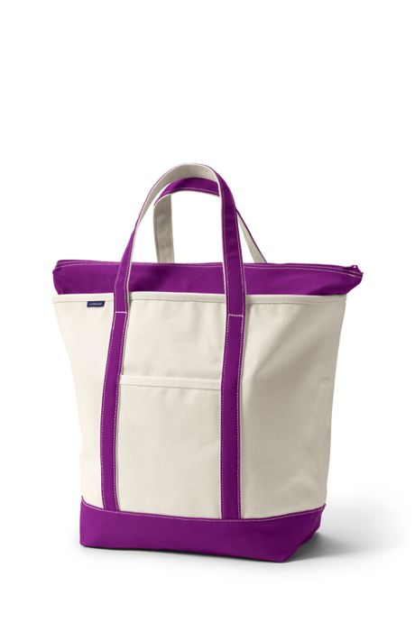 Large Zip Top Canvas Tote