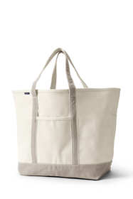 School Uniform Extra Large Open Top Canvas Tote