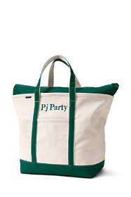 School Uniform Extra Large Zip Top Canvas Tote