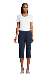 Women's Sport Knit High Rise Elastic Waist Pull On Capri Pants, alternative image