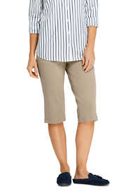 Women's Tall Sport Knit Elastic Waist Pull On Capri Pants