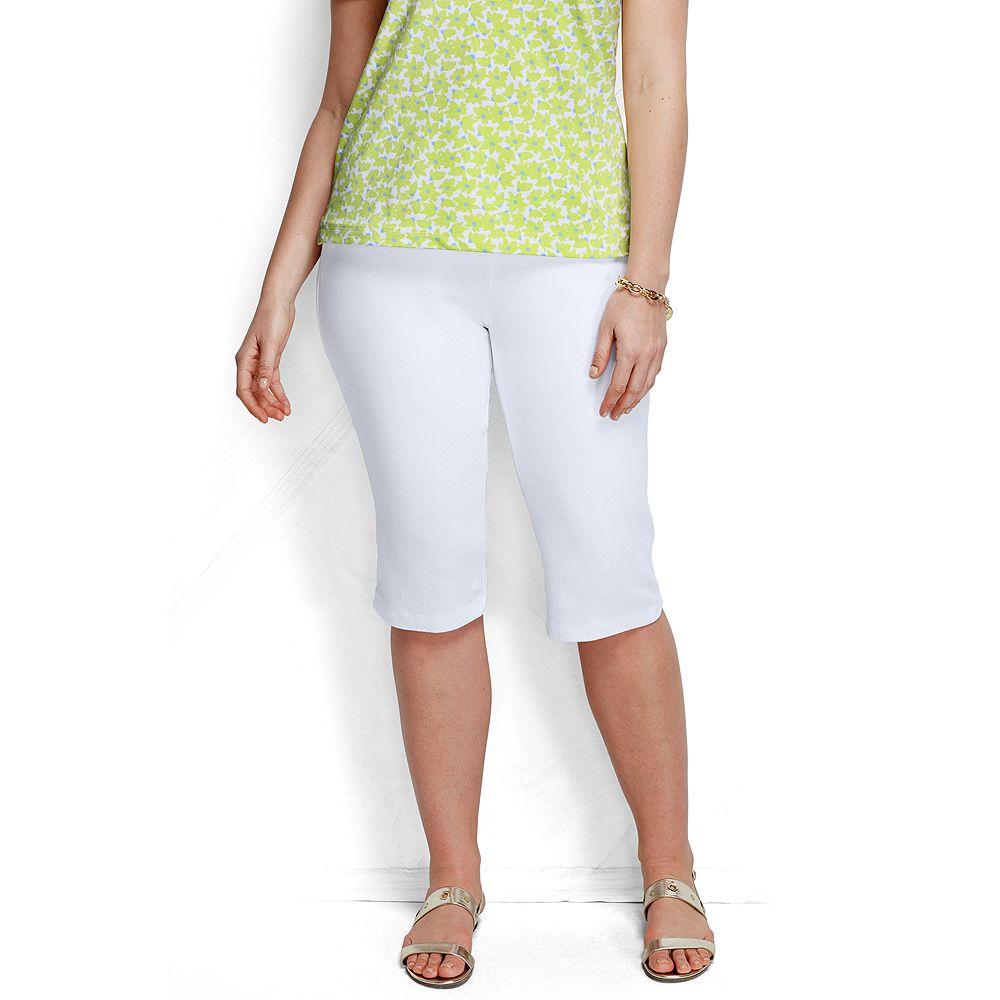 Lands' End Women's Plus Size Petite Fit 3 Sport Knit Capri Pants at Sears.com