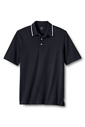Men's Tipped Collar Mesh Polo Shirt