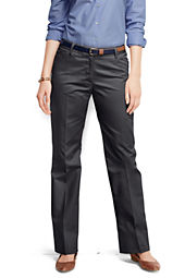 Women's Plain Front Classic Straight Boot-cut Pants