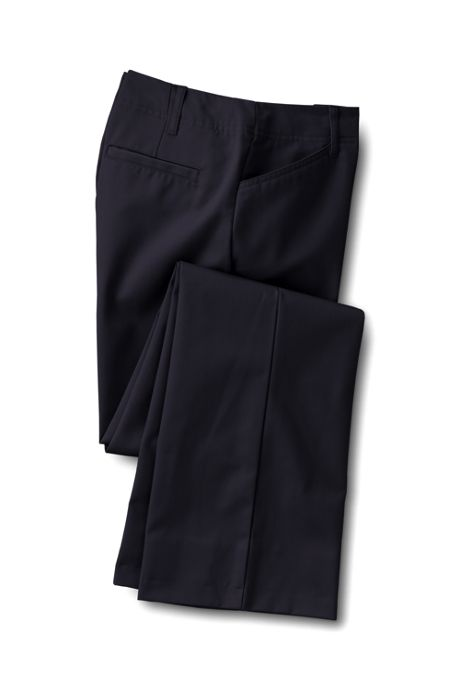 Women's Petite Plain Classic Straight Boot Pants