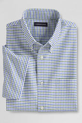 Men's Short Sleeve Pattern Oxford Sportshirt