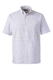 Men's Big Short Sleeve Pattern Oxford Sportshirt