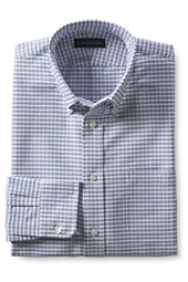 Men's Long Sleeve Buttondown Pattern Oxford Sport Shirt