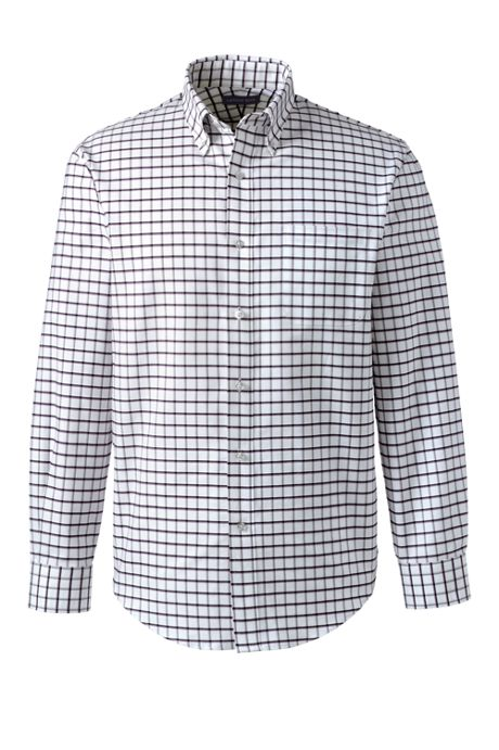 Men's Big and Tall Long Sleeve Buttondown Pattern Oxford Shirt