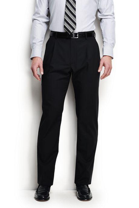 Men's Pleat Washable Wool Trousers