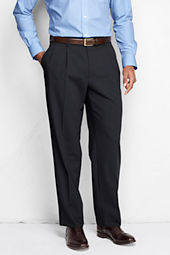 Men's Pleat Front Washable Wool Suit Trousers