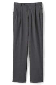 Men's Long Pleat Washable Wool Trousers