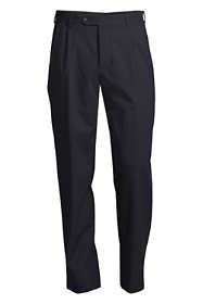 Men's Pleat Washable Wool Trousers