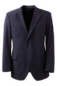 Men's Long Dress Code Washable Wool Blend Suit Coat