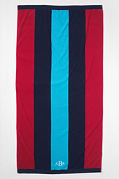School Uniform Vertical Rugby Stripe Beach Towel