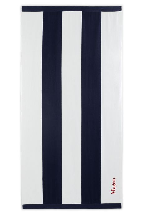 Vertical Rugby Stripe Beach Towel
