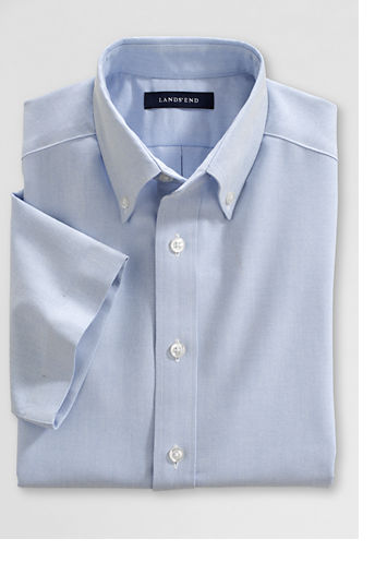 Little Boys' Short Sleeve Oxford Shirt - Blue, 4
