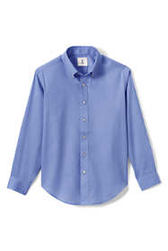 Boys Long Sleeve No Iron Pinpoint