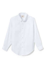 Little Boys Long Sleeve No Iron Pinpoint Dress Shirt