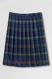 Girls' Pleated Plaid Skirt