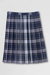 Women's Pleated Plaid Skirt