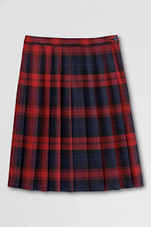 School Uniform Pleated Plaid Skirt