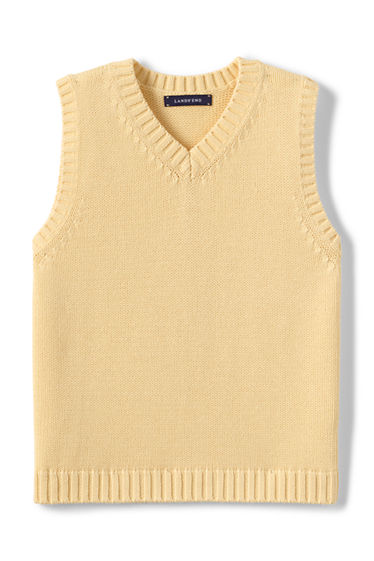 School Uniform Drifter V-neck Vest from Lands' End