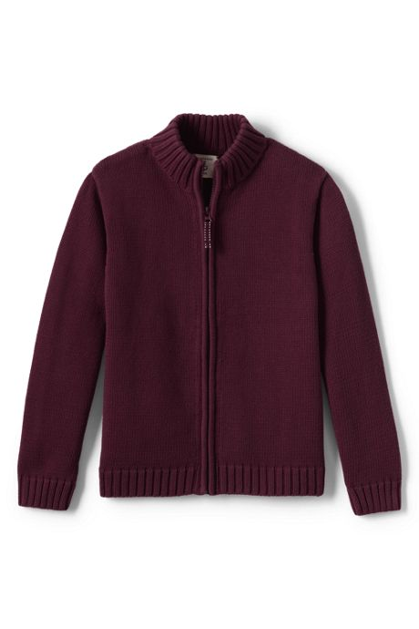 School Uniform Boys Drifter Zip-front Cardigan