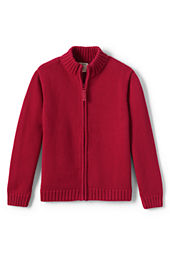 School Uniform Zip-front Drifter Cardigan Sweater