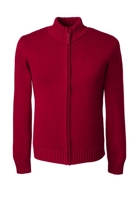 School Uniform Men's Drifter Zip-front Cardigan
