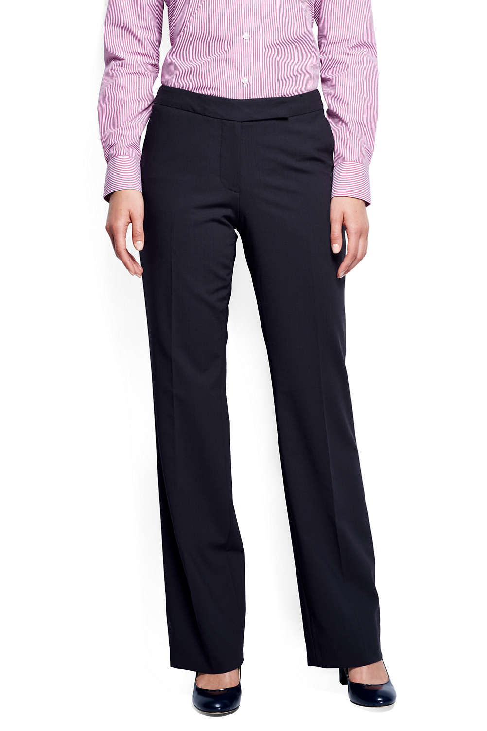 bc02b98fa94566 Women's Washable Wool Curvy Modern Pants from Lands' End