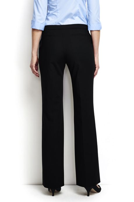 Women's Plus Size Washable Wool Straight Modern Pants