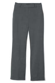 Women's Petite Washable Wool Straight Modern Pants