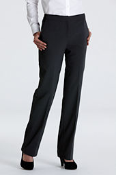 Women's Plain Front Washable Wool Comfort Trousers