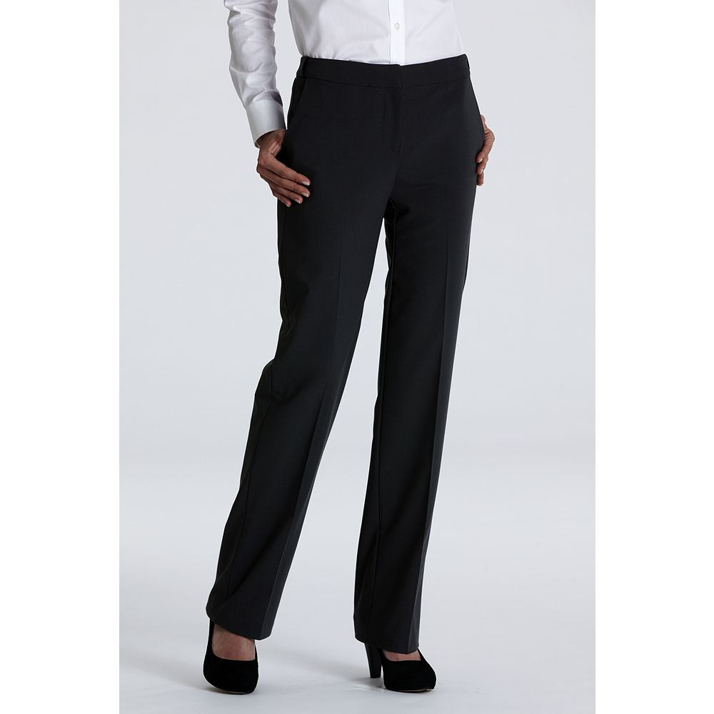 Lands' End Women's Tall Plain Front Washable Wool Comfort Trousers at Sears.com