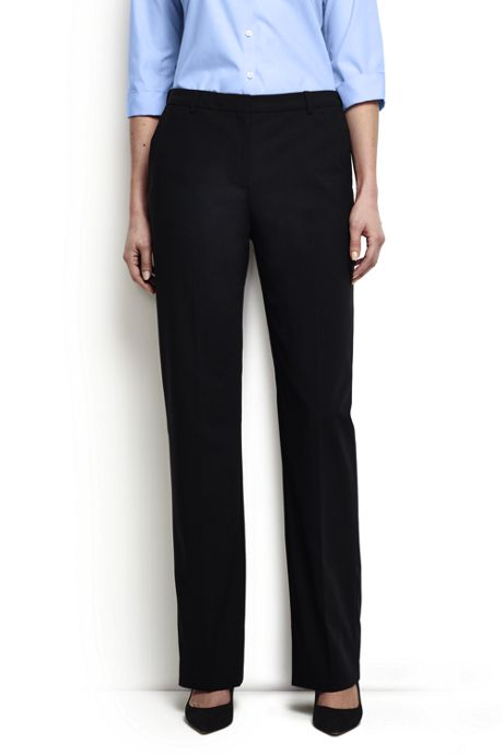 Women's Plus Size Washable Wool Plain Comfort Trousers