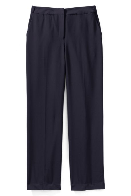 Women's Petite Washable Wool Plain Comfort Trousers