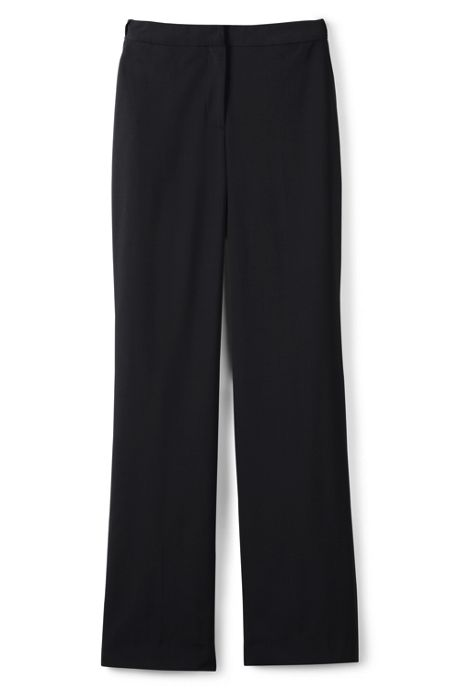 Women's Plain Front Washable Wool Comfort Waist Trousers