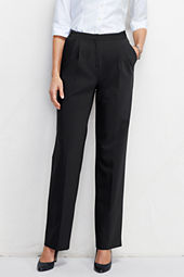 Women's Pleat Front Washable Wool Comfort Trousers