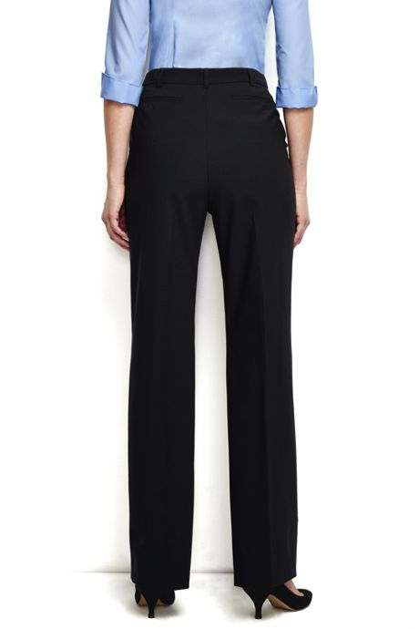 Women's Washable Wool Pleat Comfort Trousers