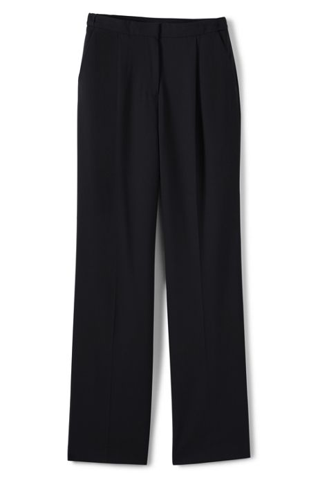 Women's Washable Wool Pleated Comfort Trousers