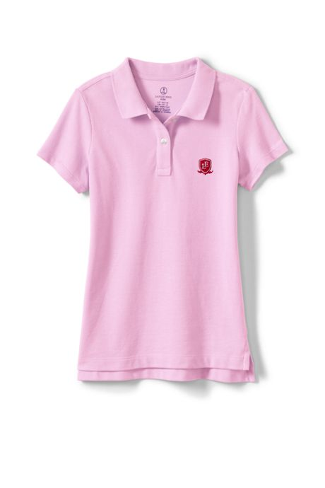 Logo Girls Fem Fit Short Sleeve Mesh Polo