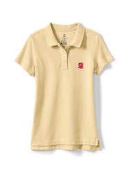 Logo Little Girls Fem Fit Short Sleeve Mesh Polo