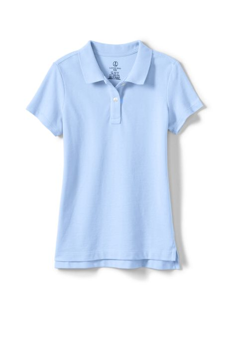 Little Girls Short Sleeve Fem Fit Mesh Polo