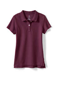 Little Girls Short Sleeve Feminine Fit Mesh Polo Shirt