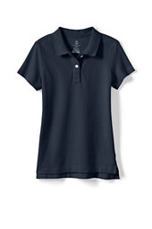 Girls' Short Sleeve Piqué Polo Shirt