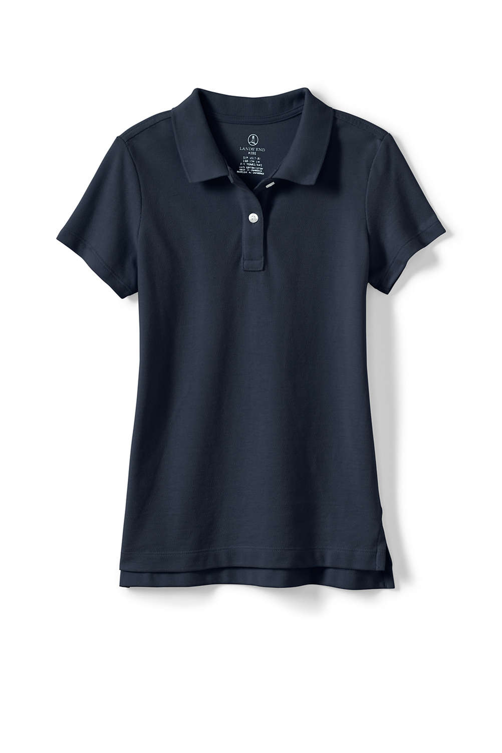 0e456cec4 Girls Fem Fit Short Sleeve Mesh Polo from Lands' End