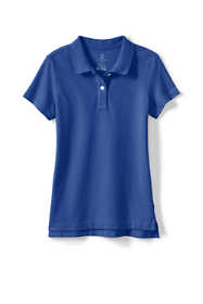 School Uniform Little Girls Short Sleeve Feminine Fit Mesh Polo Shirt
