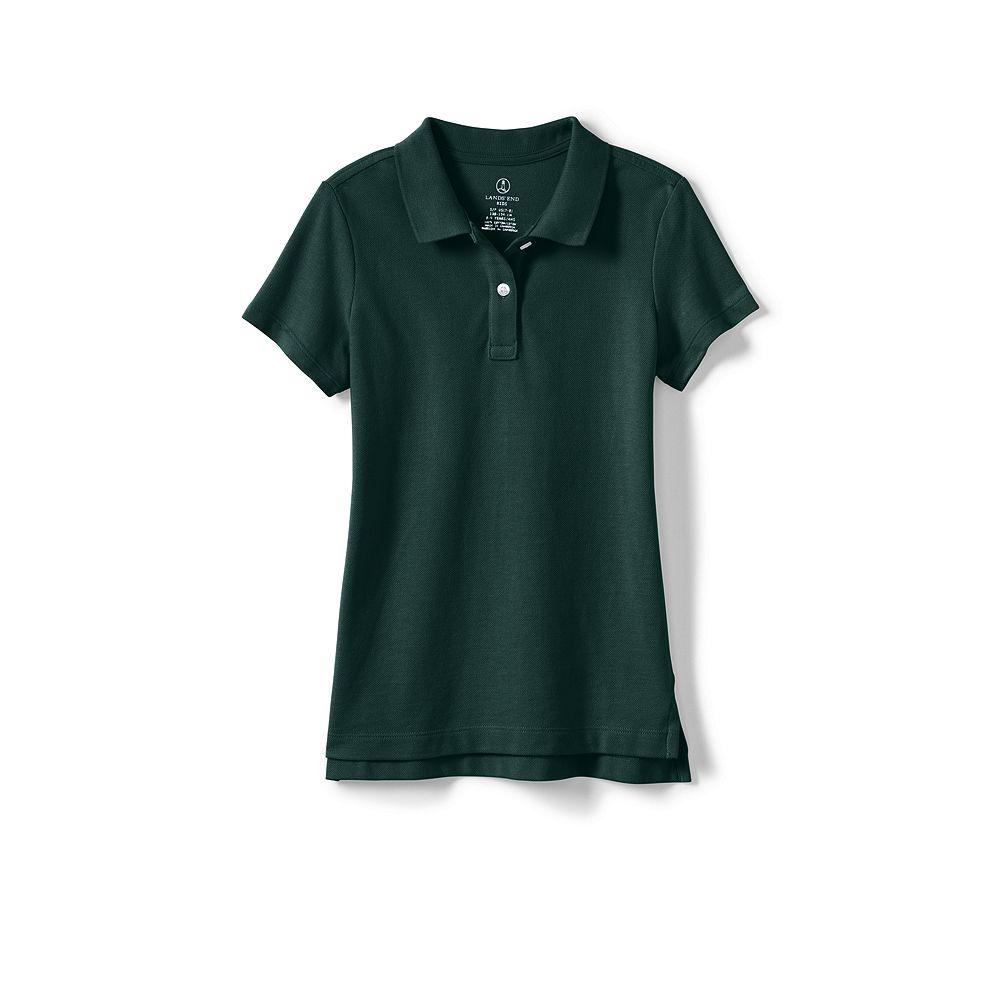 Lands' End School Uniform Women's Tall Short Sleeve Feminine Fit Mesh Polo Shirt