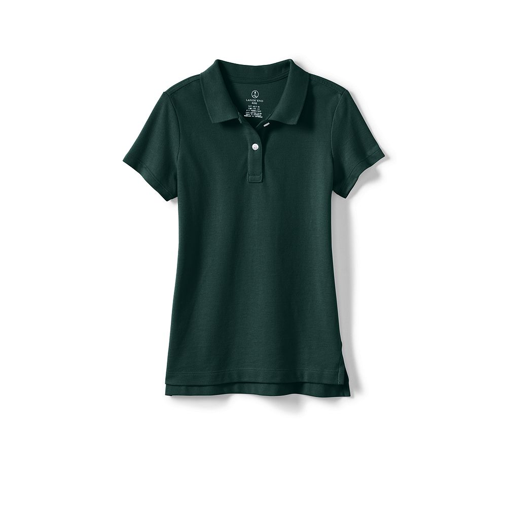 Lands' End School Uniform Little Girls' Short Sleeve Feminine Fit Mesh Polo Shirt at Sears.com